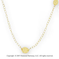 14k Yellow Gold 36in Oval Carved Convertible Necklace