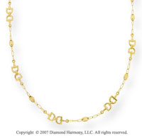 14k Yellow Gold 38 Inch Fine Elegance Layered Necklace