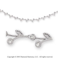 1/2 Carat Diamond 14k White Gold Necklace