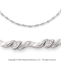 1/3 Carat Diamond 14k White Gold Necklace