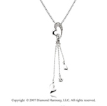 14k White Gold Diamond Modern Heart Fashion Necklace