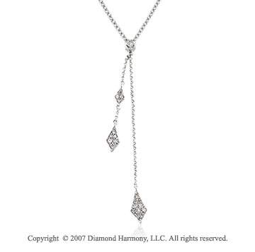 1/6 Carat Diamond 14k White Gold Classic Fashion Necklace