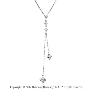 1/6 Carat Diamond 14k White Gold Classic Elegance Necklace