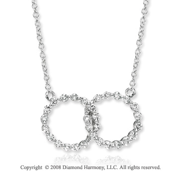 14k White Gold .40 Carat Diamond Infinity Necklace