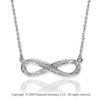 Sterling Silver 1 /6 Carat Diamond Infinity Necklace