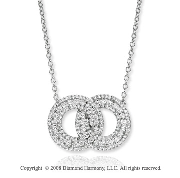 14k White Gold 1.40 Carat Diamond Infinity Necklace