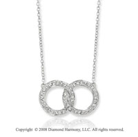 14k White Gold 1/3 Carat Diamond Infinity Necklace