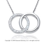 14k White Gold Infinity Necklace
