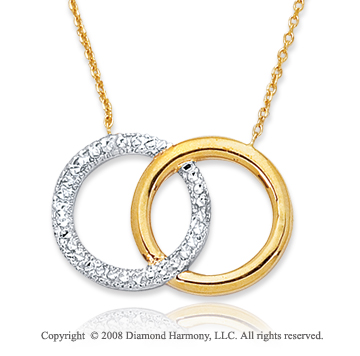 14k Two Tone Infinity Necklace