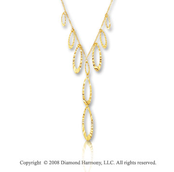 14k Yellow Gold 16 Inch Beautiful Hammered^Y^ Necklace