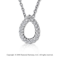 14k White Gold 1/10 Carat Diamond Multi Shape Necklace