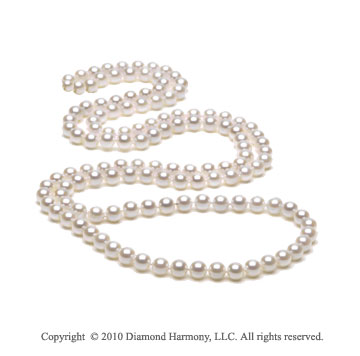 36 inch White Baroque 5.5mm Freshwater Pearl Necklace