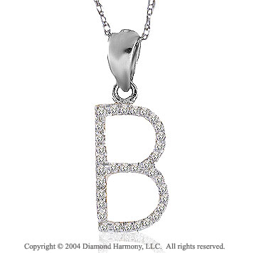 14k White Gold Large Casual Fun Diamond