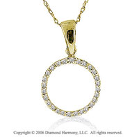 14k YG Large Casual Fun Diamond ^O^ Initial Pendant