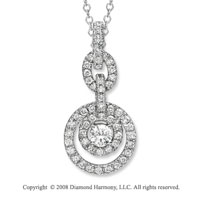 14k White Gold 1/2 Carat Diamond Necklace