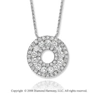 14k White Gold 1 1/4 Carat Diamond Circle Necklace