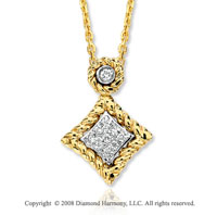 14k Yellow Gold Rope Diamond Necklace