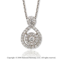 14k White Gold Elegant 1/3 Carat Diamond Necklace