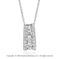 14k White Gold Stylish 1/3 Carat Diamond Necklace