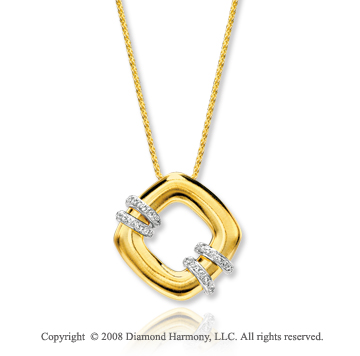 14k Yellow Gold Stylish .20 Carat Diamond Necklace