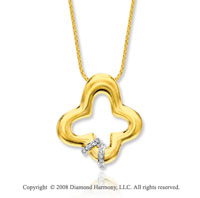 14k Yellow Gold Stylish Diamond Necklace