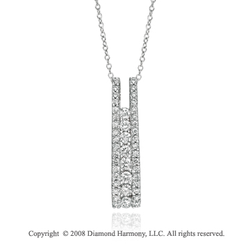 14k White Gold Elegant 1/2 Carat Diamond Necklace
