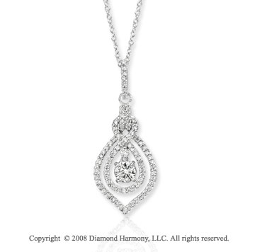 14k White Gold Stunning 1/2 Carat Diamond Necklace