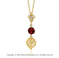 14k Yellow Gold Attra Carative Diamond Pendant Necklace