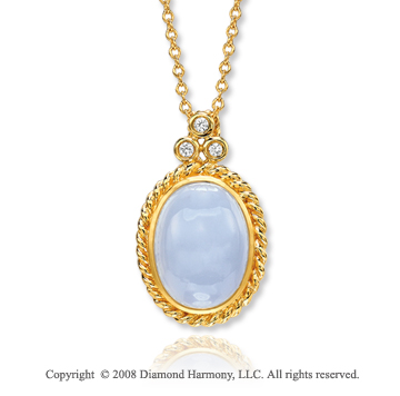 14k Yellow Gold Unique 9.20 Carat Blue Coral Diamond Necklace