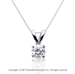 1/4 Carat Diamond Twin Bail 14k White Gold Solitaire Pendant