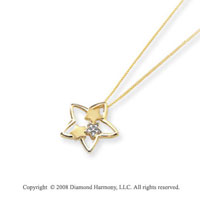 14k Yellow Gold Diamond Multi Star Pendant