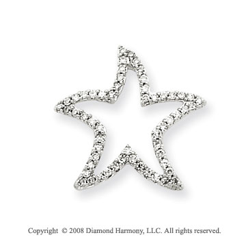 14k White Gold 1/5ct Diamond Star Pendant