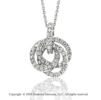 14k White Gold 2/3 Carat Diamond Multi Circle Pendant