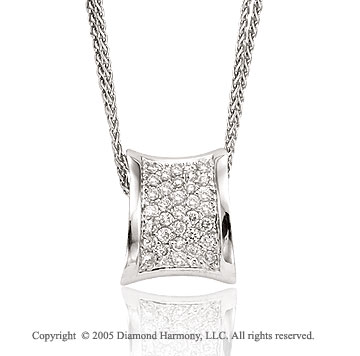 14k White Gold 1/2 Carat Diamond Pendant