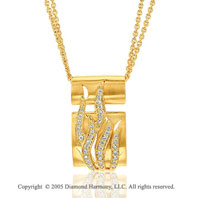 14k Yellow Gold 1/4 Carat Diamond Pendant