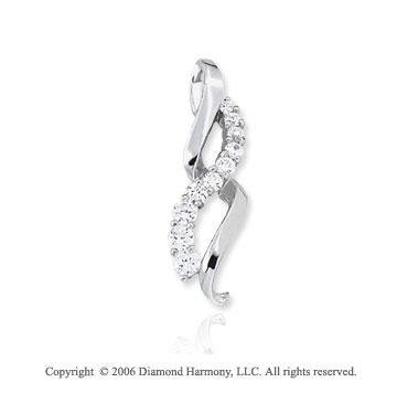14k White Gold Figure Eight �  Carat Diamond Journey Pendant