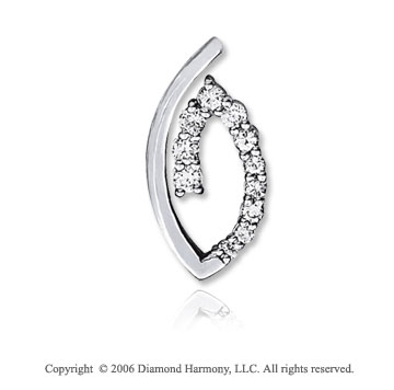 14k White Gold Oval One Carat Diamond Journey Pendant