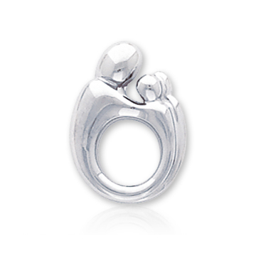 14k White Gold Mother and Child�  Charm Pendant