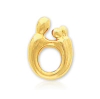 14k Yellow Gold Mother and Child�  Charm Pendant