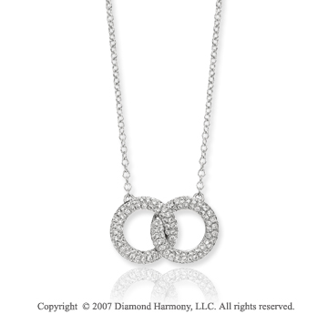 14k White Gold 3/4 Carat Diamond Infinity Necklace