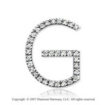 14k White Gold Prong Diamond Large ^G^ Initial Pendant