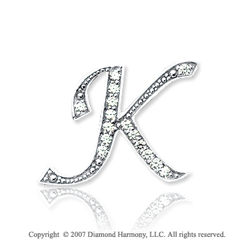Diamond Letter K...K Letter In Diamond