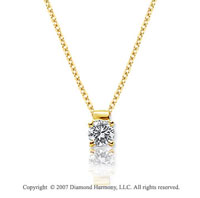 1/6 Carat Diamond Four Prong 14k Yellow Gold Solitaire Pendant