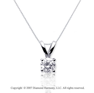 1/10 Carat Diamond Twin Bail 14k White Gold Solitaire Pendant