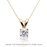 1/4 Carat Diamond Twin Bail 14k Yellow Gold Solitaire Pendant