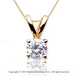 1 Carat Diamond Twin Bail 14k Yellow Gold Solitaire Pendant
