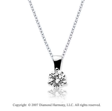 1/4 Carat Diamond Tri Prong 14k White Gold Solitaire Pendant
