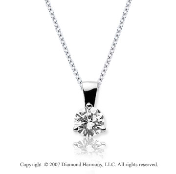 1/3 Carat Diamond Tri Prong 14k White Gold Solitaire Pendant