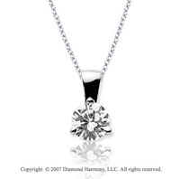 3/4 Carat Diamond Tri Prong 14k White Gold Solitaire Pendant