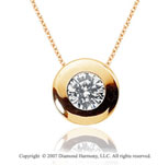 3/4 Carat Diamond Full Bezel 14k Yellow Gold Solitaire Pendant